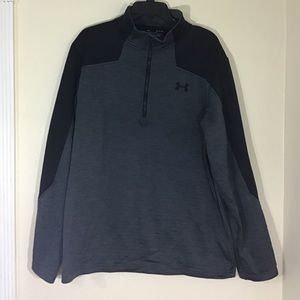 Under Armour XL 1/4 Zip Up Pullover Grey & Black